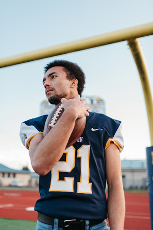 Stayton high school senior guy during photo session