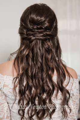 Hair style for the engagement styled session.
