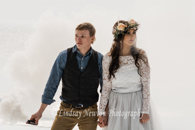 Winter engagement styled photo session at Scout Lake, Oregon.