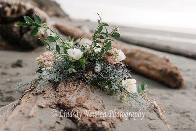 Gorgeous engagement bouquet and boutonniere from Blooms and Twine Floral
