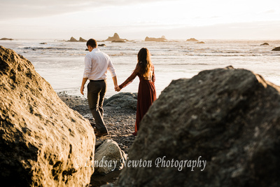 Ruby Beach engagement session