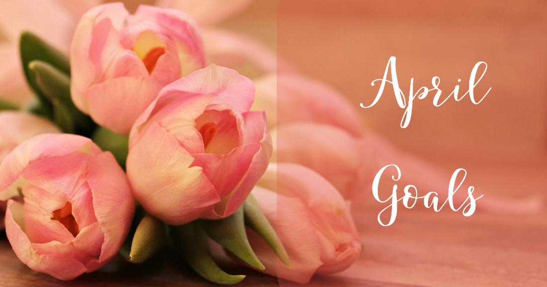 Tulip banner for April Goals