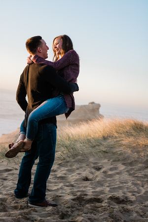 couple in love photo shoot at Pacific City, Oregon