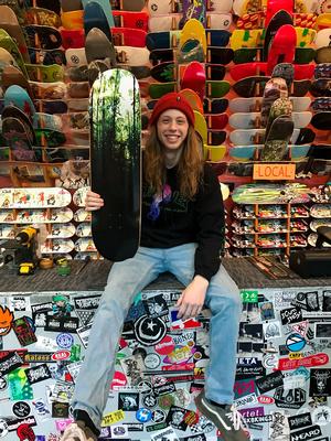 cool skateboard at the Cal Skate Shop in Portland, Oregon
