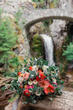 Mount Rainier Bridal Portrait Bouquet by Brenna Burnett Florals