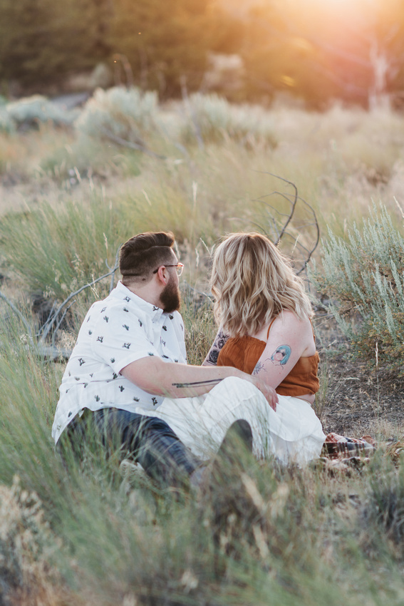 Smith Rock State Park Engagement Photos
