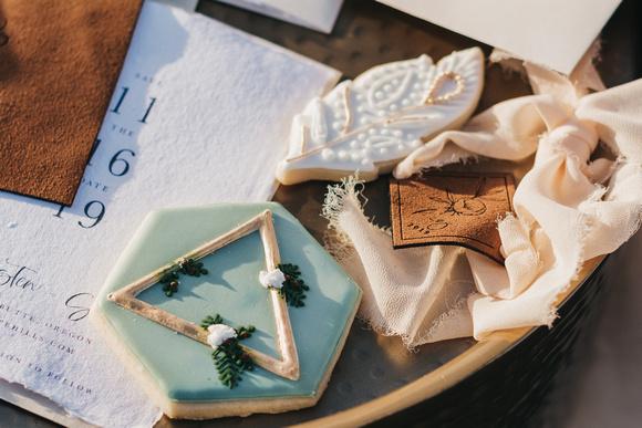 Boho elopement tablescape and details shots