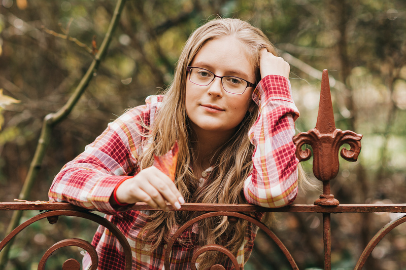 High School Senior Portrait taken at Deepwood Estates in Salem, Oregon
