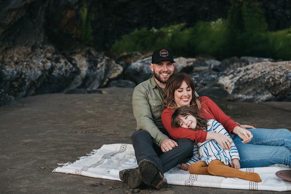 Family photos on the Oregon Coast
