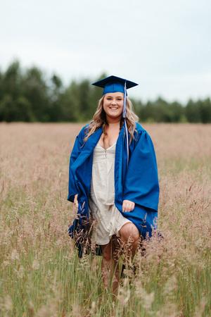 Graduation photos in cap & gowns