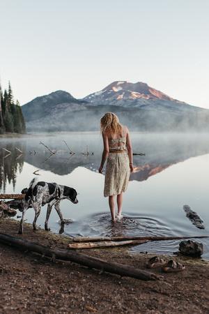 High school senior photoshoot at Sparks Lake, Oregon